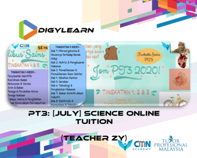 PT3: Science Online Tuition July 2020 by Teacher Zy