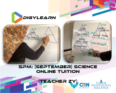 SPM: Special Science Online Tuition September 2020 by Teacher Zy